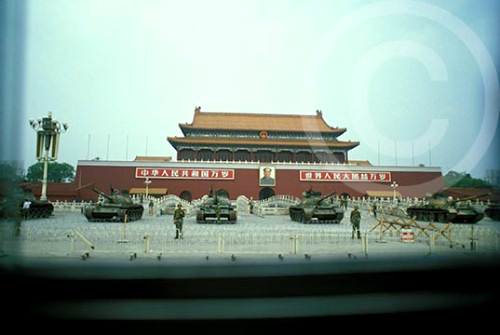 Photo of Tiananmen Square crackdown, Beijing, China 1989