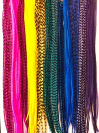 photo of feather hair extensions