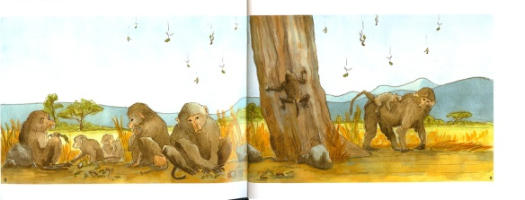 Mgunga Book Inside Illustrations of Babboons