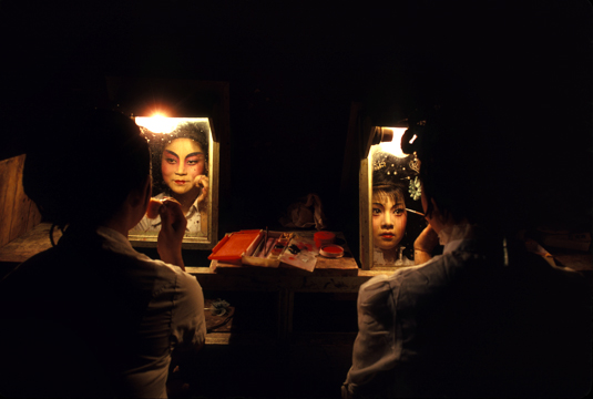 Photo of the Shanghai Opera backstage