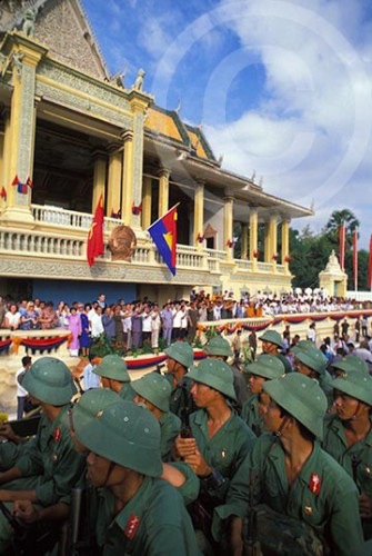 Photo of the withdrawal of the Vietnamese from Cambodia, Phnom Penh