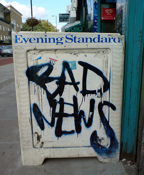 Photo of bad news