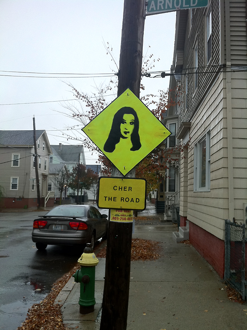 Photo of Cher the Road sign