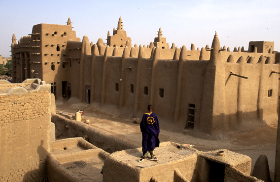 Photo of the Grand Mosque in Djenne, Mali