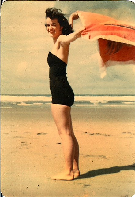 Photo of my mom when she was at the beach