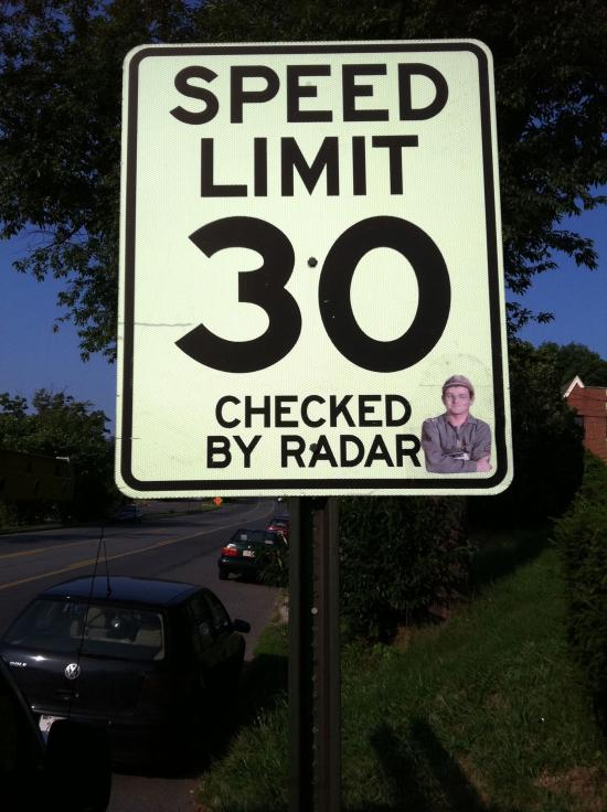 Photo of speed radar