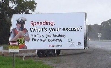 Photo of speeding billboard