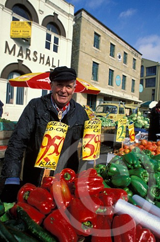 Photo of a vendor at Salamanca Market in Tasmania, Australia