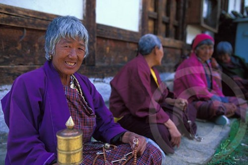 Photo of women in Bhutan