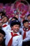 Photo of North Korean Kids during Kim Il Sung birthday celebration