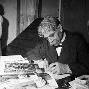 Photo of Albert Schweitzer in Aspen, Colorado by Ferenc Berko