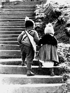 Photo of kids walking up stairs by Franz Berko