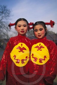 Photo of girls during Chinese New Year in Beijing, China