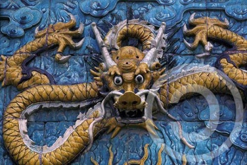 Photo of a dragon tile in Beijing's Forbidden City