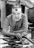 Portrait of print maker Thomas Benton