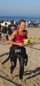 Becky Green Aaronson during the Carpinteria Triathlon