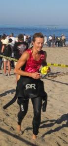 Becky Green Aaronson during the Carpinteria Triathlon