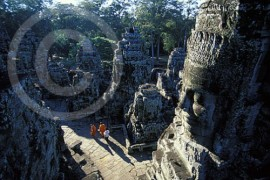 Photo of Angkor Bayon at Angkor Wat in Cambodia