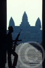 Photo of Angkor Wat Temple Complex Soldiers