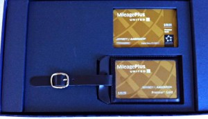 Photo of a luggage tag for Million Mile Flyers from United Airlines