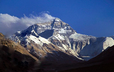 Photo of the North Face of Mount Everest in Tibet