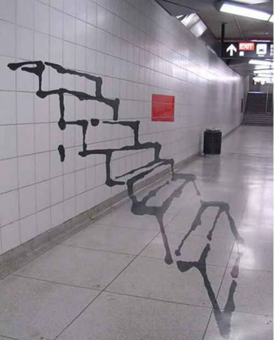 Photo of street art subway steps
