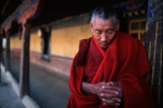 Photo of Buddhist monk in Lhasa, Tibet