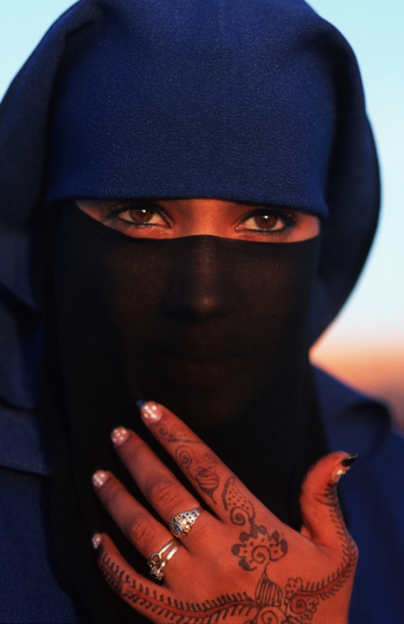 Photo of a Moroccan woman wearing a hijab