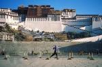 Becky Green Aaronson running at Potala Palace in Lhasa, Tibet