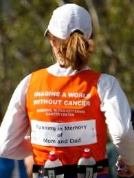 Running the Santa Barbara Marathon, fundraising for cancer research