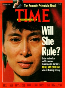 Time Magazine with photo of Aung San Suu Kyi