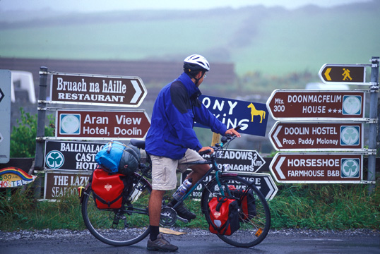 Photo of cycling in Doolin, Ireland