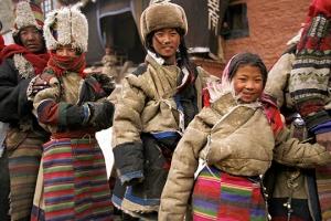 Tibetan Pilgrims at Tsurphu Monastery